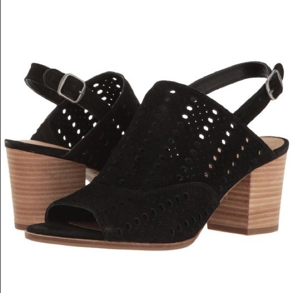 b75fa9e7edd Lucky Brand Shoes - Lucky Brand Ortiza Black Suede Block Heel Sandals